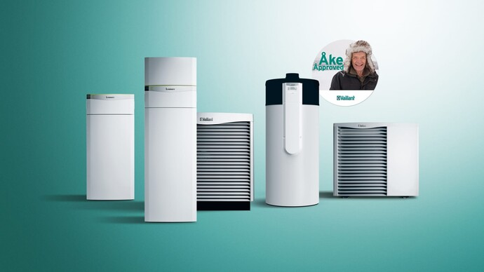 Heat pump range together with Åke approved-badge