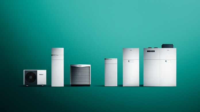 Heat pump product portfolio for new builds and modernisations from Vaillant
